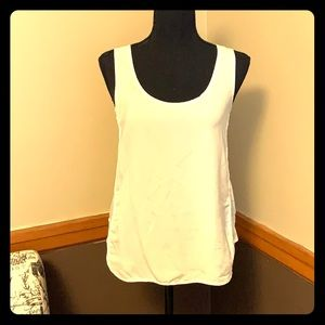 Banana republic white tank with jersey material